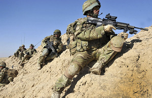 Soldiers from 5th Battalion The Royal Regiment of Scotland during operations in Helmand province