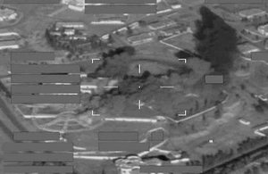RAF Tornados strike at a Daesh palace stronghold