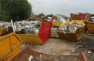 Skips of waste