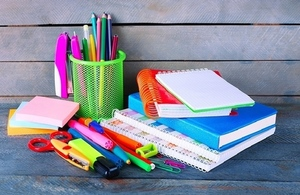 stack of colourful stationery