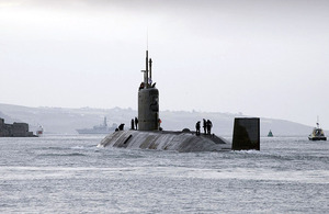 Stock image of HMS Triumph, one of the Royal Navy's Trafalgar Class submarines