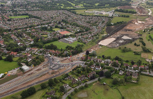 A6 Manchester Airport relief road under construction.
