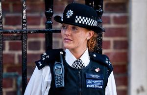 Female police officer.