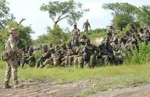 Members of the RAF training team carrying out training with the Nigerian Air Force