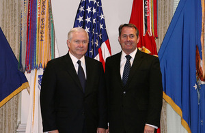 US Defense Secretary Robert Gates (left) and Dr Liam Fox in Washington earlier this week