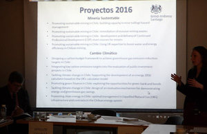 Presentation about the British Embassy's projects during 2016.