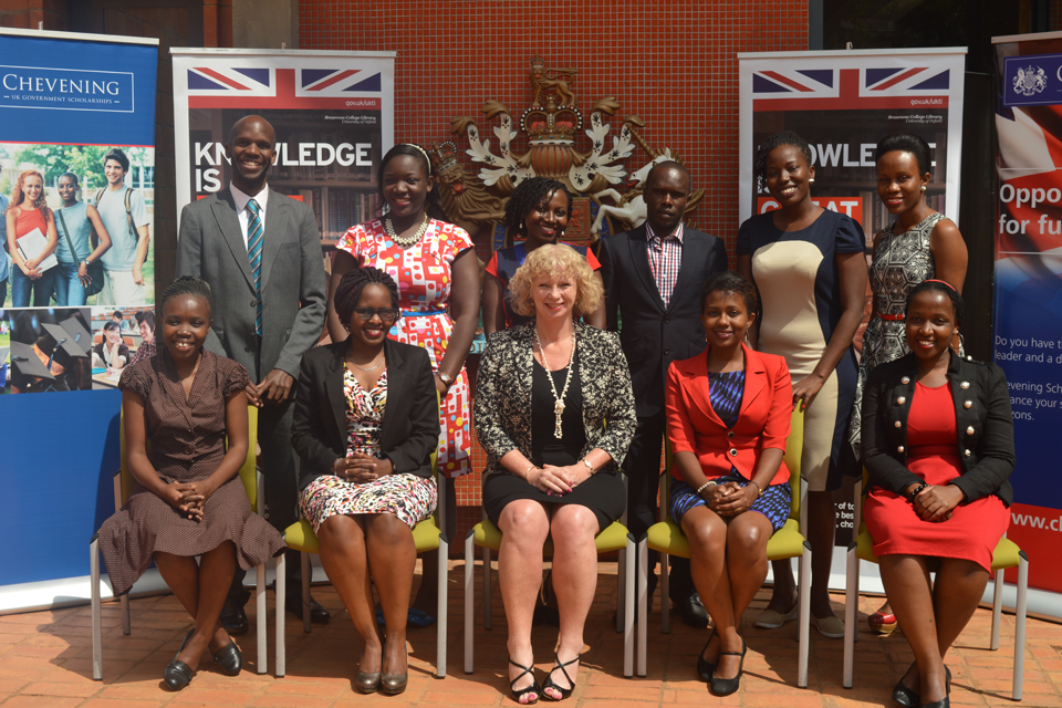 HE Alison Blackburne and 2015/2016 Chevening scholars