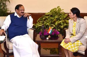 M Venkaiah Naidu and Priti Patel