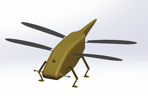 Computer generated image showing the dragonfly micro-drone.