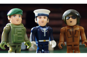Armed Forces action figures that feature in the new Armed Forces Compensation Scheme video