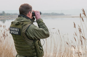 Environment Agency fisheries officer during a patrol