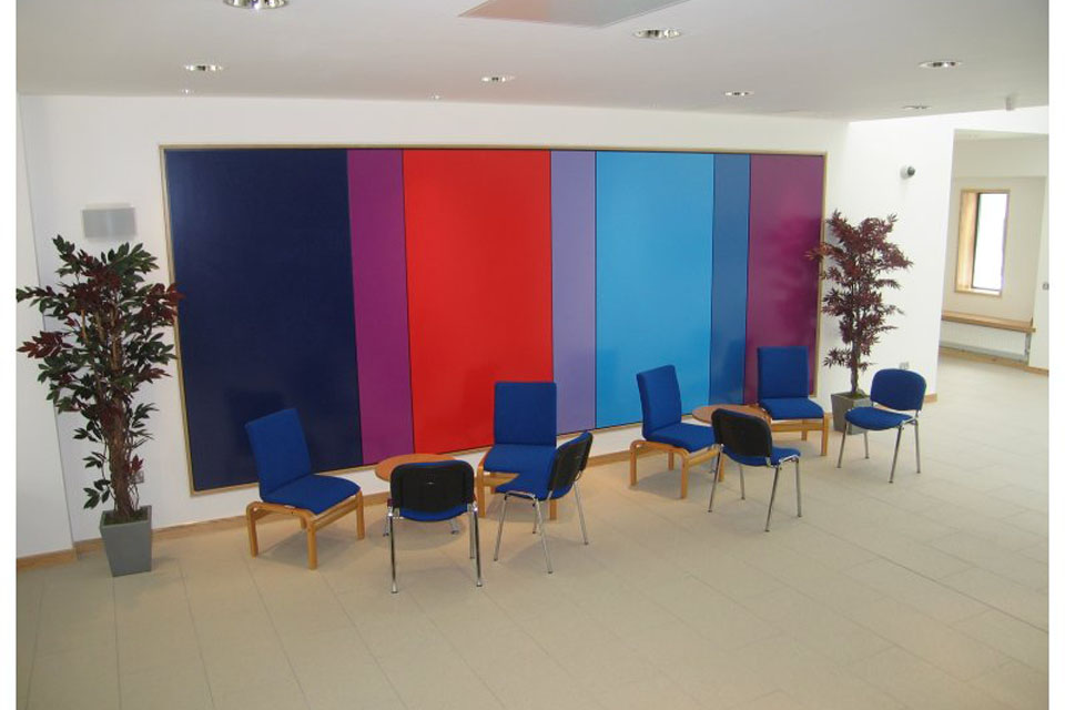 The reception area at the SPVA facilty at Imjin Barracks