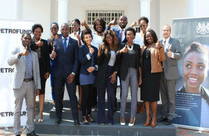 Namibian Chevening Scholars at the farewell event