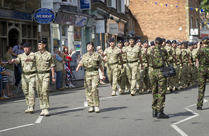 Soldiers parade through Oakham
