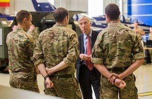 Defence Minister Earl Howe visits Royal Air Force crews serving in Estonia as part of NATO's Baltic Air Policing Mission