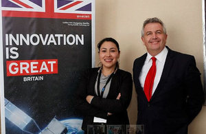 Viviana Daza, Mining Officer, and Trevor Hines, Director of the Commercial Office in Santiago participated at Medmin 2016.