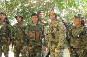 Captain George Duffield with Afghan National Army soldiers