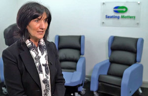 Martina Tierney, company founder and Clinical Director at Seating Matters