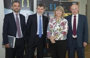 Harriett Baldwin MP with Dstl Chief Executive Jonathan Lyle