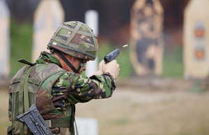 Army marksman competes at the 2010 Central Skill-at-Arms Meeting at Bisley ranges
