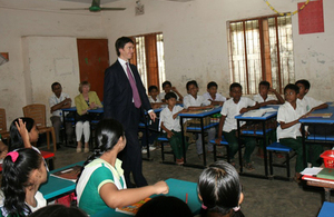 Rory Stewart, UK's International Development Minister visited UK supported projects in Dhaka including a primary school.
