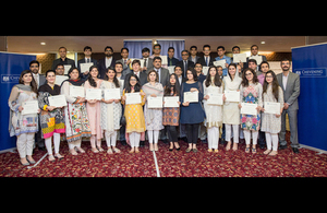 1.	Group photograph of departing Chevening Scholars with the British Deputy High Commissioner, Mr. Patrick Moody, after the award ceremony in Islamabad.