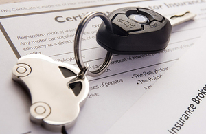 Car keys and insurance papers