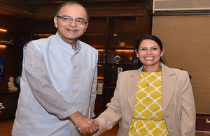 Priti Patel meets Indian Finance Minister Arun Jaitley