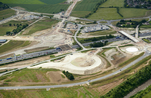 Aerial view of the A5 to M1 link scheme