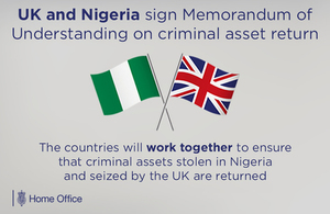 UK and Nigeria memorandum of understanding