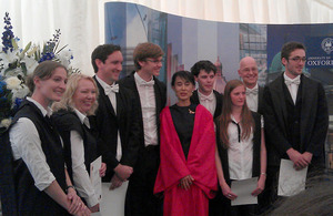 Mrs Joy O'Neill (second from left) together with other recipients of Vice-Chancellor's Civic Awards