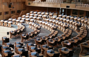 Photograph from inside the Scottish Parliament