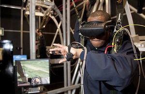 RAF Brize Norton's new virtual reality parachute trainer