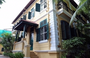 A period villa built in the early 20th century now used as the official residence of the British Ambassador to Cambodia