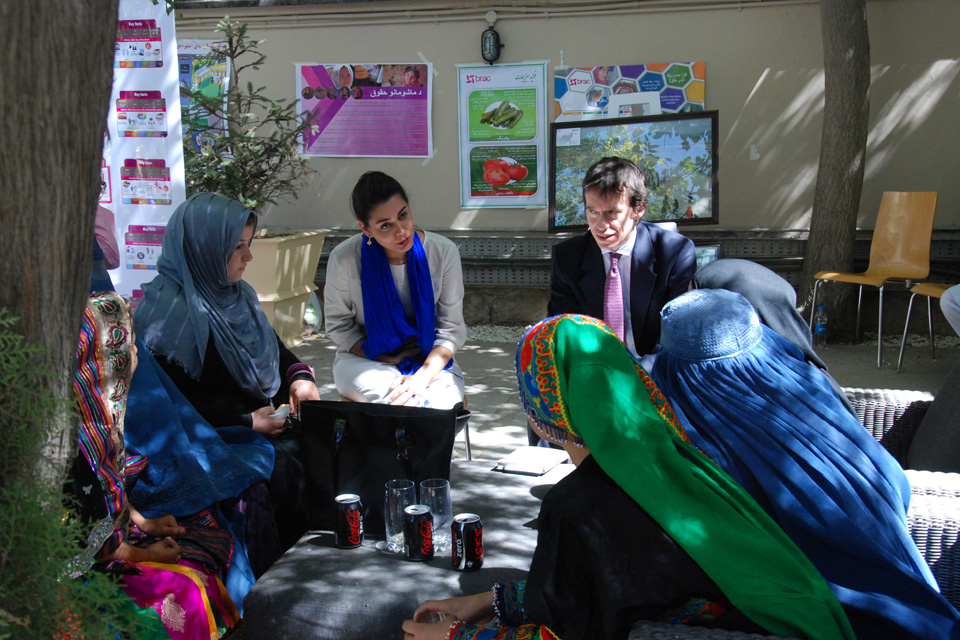 Minister of State for International Development, Rory Stewart MP OBE, during a visit to a girls' education event as part of his visit to Afghanistan. Picture: DFID