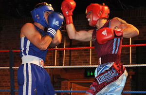 Paras versus Royal Marines charity boxing