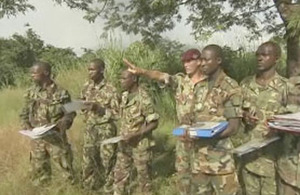 Training Sierra Leonean troops