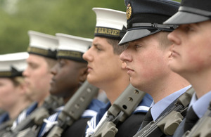 Service personnel on parade