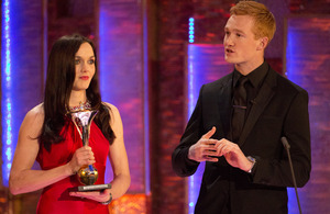 Victoria Pendleton and Greg Rutherford