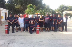 Consul thanks Jávea for helping brits during blaze