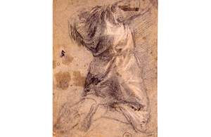 Study of a Kneeling Man