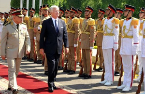 Defence Secretary Michael Fallon visited Egypt this week. Picture: British Embassy in Cairo.