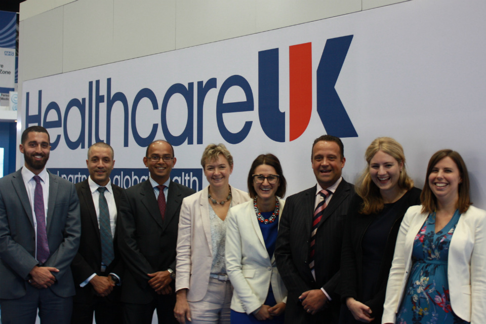 The Healthcare UK team pictured on the Healthcare UK stand