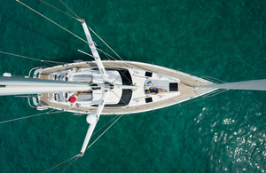 An Oyster yacht.