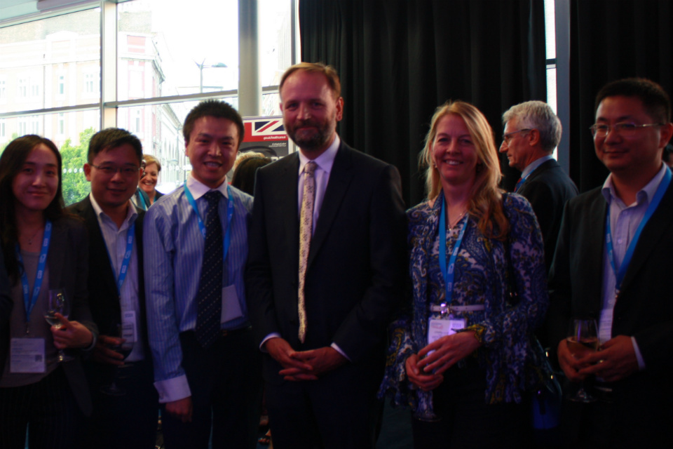 SImon Stevens with international delegates