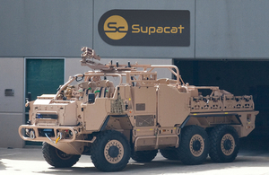 A Supacat military vehicle