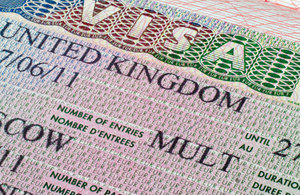 UK visa vignette