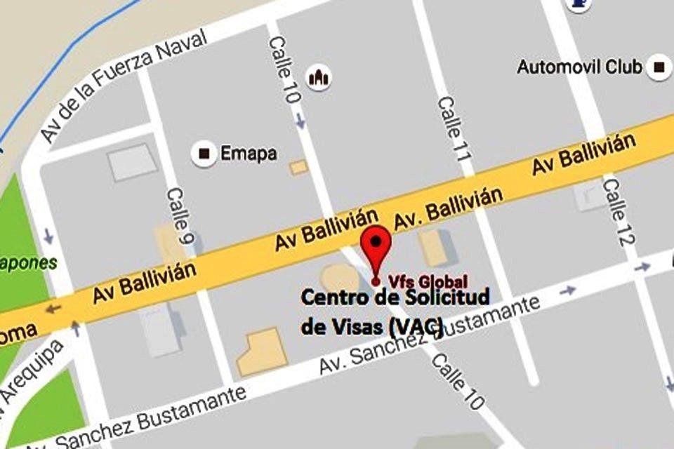 VAC La Paz dirección