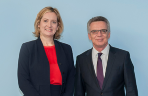 UK Home Secretary Amber Rudd and Interior Minister of Germany Thomas de Maizière