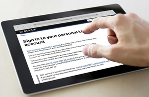 Sign into your Personal Tax Account